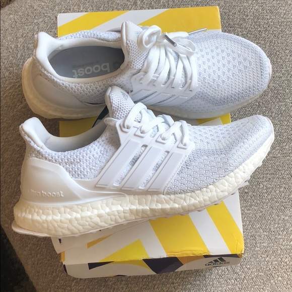 Adidas Ultra Boost Triple White 5Y Womens 6.5 NWT